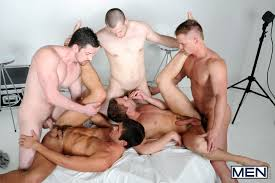 Gay orgy video clips