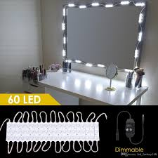 makeup vanity lighting. 2018 Diy Bathroom Vanity Lighting Kits For Cosmetic Make Up Mirror 60 Leds Lighted Makeup Kit,Dimmer \u0026 Ul Listed Adapter No From