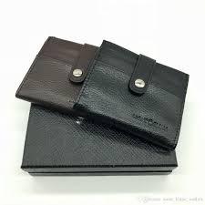 high end men s leather business card holder id card set mt multi function mb luxury gift bag credit card holder pocket photo m b wallets