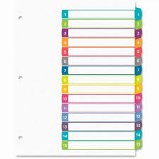 50 New Photograph Of Avery Ready Index 10 Tab Template