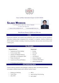 Wimax Engineer Sample Resume Impressive Salman Mahmood Resume