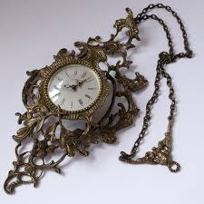 wall mechanical bronze alarm clock j