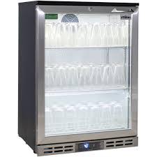 rhino below zero 1 door heated glass door bar fridge can set to 12oc