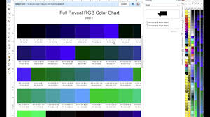 Dye Sublimation Color Chart Sublimation To Cotton Using The Reveal S Color Charts In Coreldraw