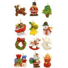Set of 12 Miniature Assorted Shapes Resin Ornaments