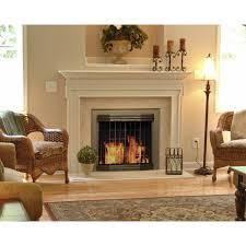 pleasant hearth fenwick large fireplace glass door installation