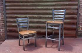 industrial restaurant furniture. BFM Lima Clear Coat Steel Seating Still Adds Industrial Chic To Indoor Restaurant Furniture O