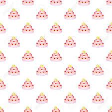 Wedding Cake Pattern Cartoon Illustration Of Wedding Cake Vector