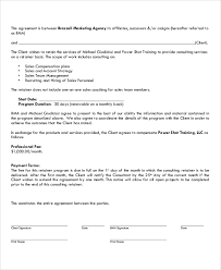 retainer consulting agreement create and download a consultant retainer fee contract bonsai