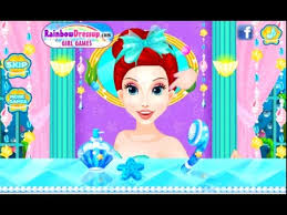 frozen gamezone disney princess ariel dress up and make up game