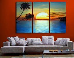 3171 handpainted <b>3 piece modern</b> landscape oil painting on canvas ...