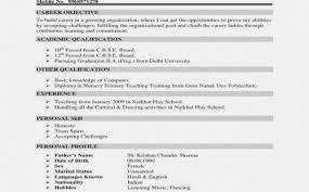 Resume Objectives Examples New Writing A Good Resume What To Write