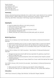 Business Development Associ Business Resume Examples And Great