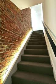 staircase lighting led. Light For Staircase Stair Wall Lights Led Hidden In The Brick To Line Up . Lighting