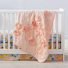 Floral Rush Crib Bedding | The Land of Nod &  Adamdwight.com