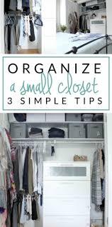 Small Closet Organizing  The Crazy Craft Lady - Organize bedroom closet