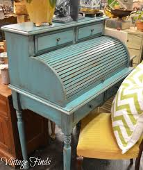 vintage finds turquoise desk makeover