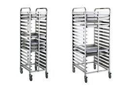 stainless steel sink racks ampquot whitehaven: metro rdn pan end load bun sheet pan rack assembled