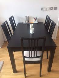 needs to go extendable dining table 6 chairs ikea bÖrje bjursta brown