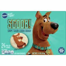 Sugar, enriched flour bleached (wheat flour, niacin, iron, thiamin mononitrate. Pillsbury Ready To Bake Scooby Doo Sugar Cookie Dough 24 Ct 11 Oz Qfc