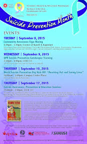 is national suicide prevention month several events click to enlarge is national suicide prevention