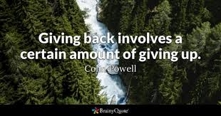 Giving Back Quotes BrainyQuote Impressive Quotes On Giving Back