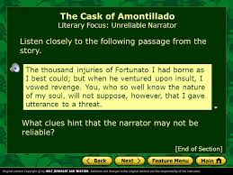 the cask of amontillado by edgar allan poe ppt  9 the