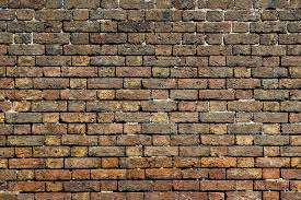 dirty old red brick wall background