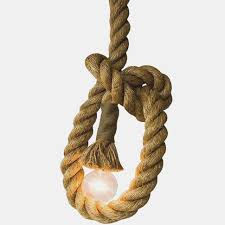 edison hailey collection 68 light brown hemp rope indoor pendant