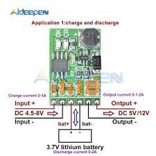 dc 5v 12v discharger board dc dc converter boost step up module ups diy li lon lipo lithium battery