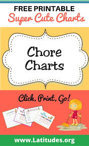 Free Printable Chore Charts For Kids Acn Latitudes