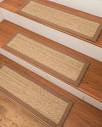 natural area rugs handcrafted half panama seagrass carpet stair treads malt 9 x 29