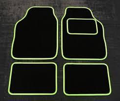 green car floor mats. Image Is Loading Universal-Car-Floor-Mats-in-Black-with-Lime- Green Car Floor Mats S