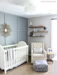 This blue grey paint colour - Hamptons Inspired Nautical/Travel Nursery -  Project Nursery