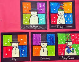 Colorful Snowmen I Did This Project With 2nd Grade Last