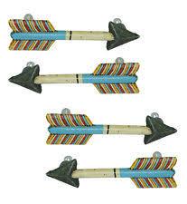 arrow drawer pulls. set of 4 colorful metal arrow drawer pulls knobs - rustic western decor