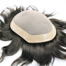 SimBeauty <b>100</b>% <b>Human Hair</b> Toupee For <b>Men</b> Mono Lace With ...