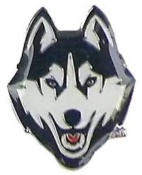 uconn huskies university of connecticut logo pin