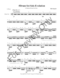 drum set sheet music drum set solo evolution drum set solo j w pepper sheet music
