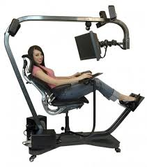 crazy office chairs. looks like a cross between dental chair and home gym crazy office chairs