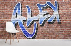 personalised graffiti wallpaper