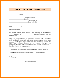 Professional Resignation Letter Sample Doc Resume And Cover Letter