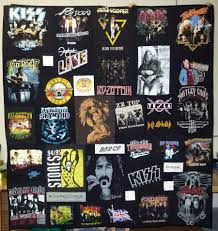 Concert T-shirt Quilt... this is a great idea! Especially with old ... & I may not necessarily care for the 'topic', but I do like the concept. Rock  n' Roll Concert T-shirt Quilts; I want one of these one day made out of all  my ... Adamdwight.com