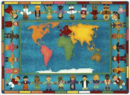 carpet world. hands around the world carpet