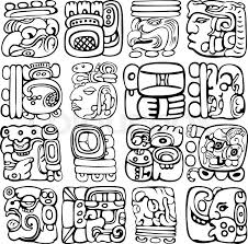 Mayan Patterns Inspiration Vector Set Of Mayan And Aztec Glyphs With Ancient Gods And