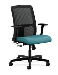 Office Chair With Adjustable Arms Ignition Mid Back Task Chair Hiwm1 Hon Office Furniture