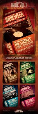 vintage flyer template com your template preview indievol1
