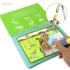 magic water drawing book coloring book doodle with magic pen painting board for children education drawing