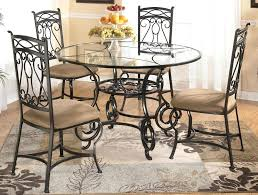 circular glass table top round glass dining table with four chairs by signature round glass top