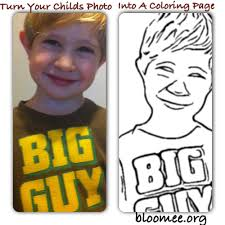 Turn Your Childs Photo Into A Coloring Page Bloomeeorg